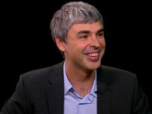 Larry Page is the head of the world's most important Internet company ...