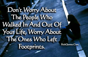 Life Quotes | Who Left Footprints Girl alone Lonely On Road Sad