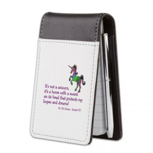 ... Gifts > Abctv Notepads > Scrubs Unicorn Quotes Small Leather Notepad