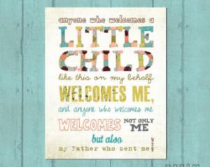 Baby Gift, Baby Shower present, Ado ption gift, Scripture Art, Bible ...