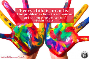 picasso every child is an artist quote