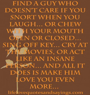 The Amazing Of Passion Quotes: Find A Guy Who Does Not Care If You ...