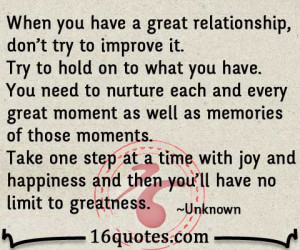 have a great relationship