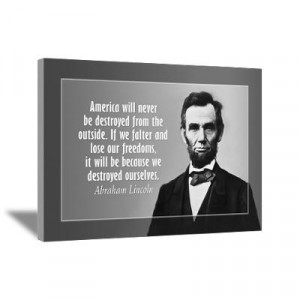 ... Art > Canvas Art > Abe Lincoln Quote on America Wall Art Canvas Art