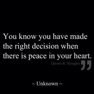 Making the right decision quote