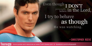 Christopher Reeve's quote at Truth-Saves