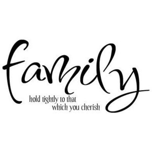 Family Hold Tightly To What You Cherish Vinyl Wall Quote Decal