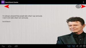 查看更大图片 David Bowie - Quotes 用于 的 Android 的截屏