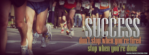 Running Success Dont Stop When Youre Cover