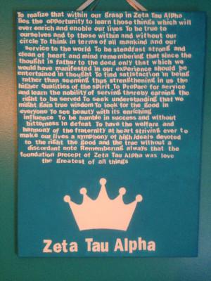 Zeta Tau Alpha Quotes Zeta tau alpha creed by myshop101000 on etsy