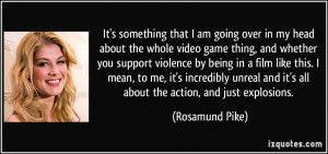 something that I am going over in my head about the whole video game ...
