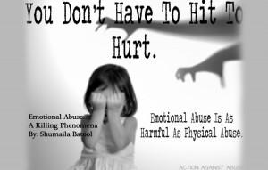 Emotional Abuse….A Killing Phenomena: Shumaila Batool