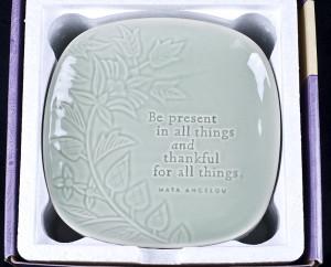 Hallmark Maya Angelou Life Mosaic Inspirational Plates Set