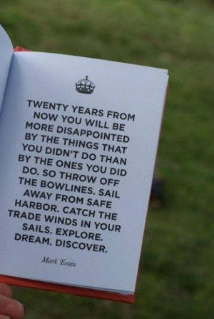 Mark Twain quote modernly known as YOLO