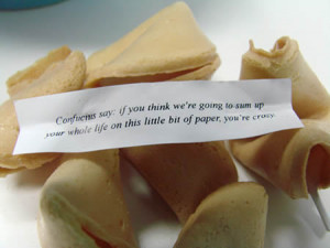 ... fortune cookie considered dessert? How do you read yours? Do you eat