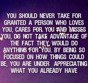 Never take for granted.. #underappreciation