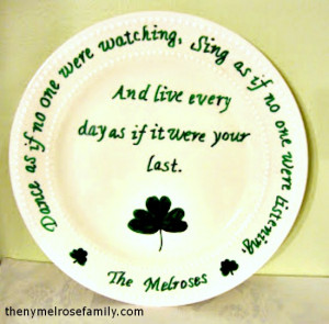 Shamrock and Irish Blessing Plate @russej10 #plate #stpattys # ...