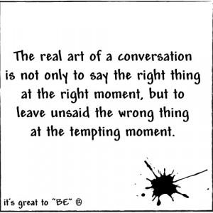 the art of conversation...