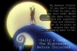Nightmare Before Christmas Quotes Jack And Sally Jack and Sally ...