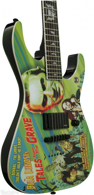 esp ltd graphic series bel lugosi tales from the grave electric guitar