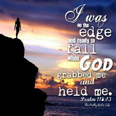 When you feel like you can't take anymore, God will come in and rescue ...