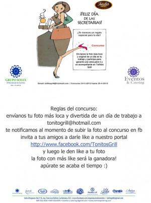Día de la Secretaria – 26 de Abril 2013: Toñitos Grill ...