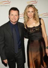 Michael J. Fox and Tracy Pollan in New York City on November 5, 2008.