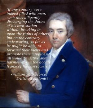 William Wilberforce, British Abolitionist