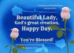 Happy Hay, Beautiful Woman, free images, christian card, free ...