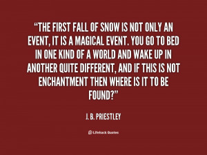First Snow Quotes
