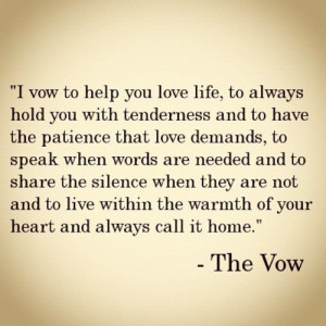 Engagement. Proposal. Love. / The Vow! Such sweet wedding vows.