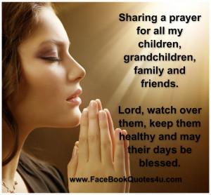Sharing a prayer for all my children,