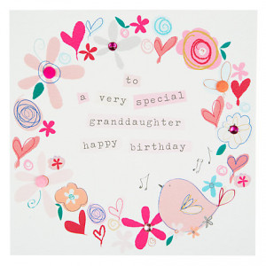 birthday card for granddaughter online age one grandchild birthday ...