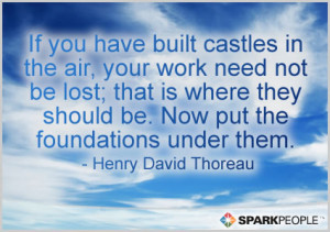 Motivational Quote - If you have built castles in the air, your work ...