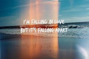 falling in love, love, quote, sea