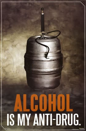 Alcohol Quote for Fb Share – Alcohol is My Anti Drug
