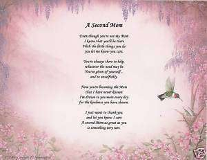 ... gift birthday for stepmom stepmother personalized poem Pictures