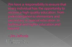 ... Jim Jeffords #Funnyeducationquotes #Inspirationaleducationalquotes www