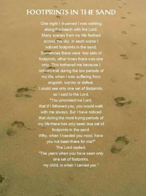 Footprints! !love this xx amen x