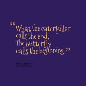 Quotes Picture: what the caterpillar calls the end, the beeeeeeperfly ...