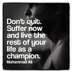 Great quote by the boxing legend Muhammad Ali! #stonehard #boxing #gym ...