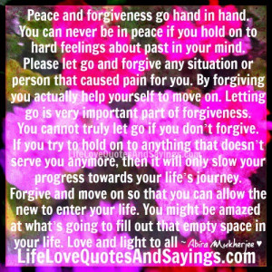 Peace And Forgiveness.. | Love Quotes And Sayings