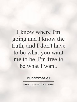... don't have to be what you want me to be. I'm free to be what I want