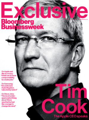 Today is all about Tim Cook. Apple's chief executive first sat down ...
