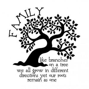 NEW Family Like Branches On A Tree We All Grow In Different Directions ...