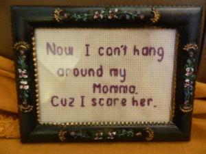 Hahahahahahaha!!!!!-Funny Rap Lyric Cross Stitch Ice Cube Natural by ...