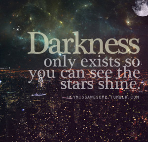 ... love, night, photography, quote, shine, star, text, true, tumblr