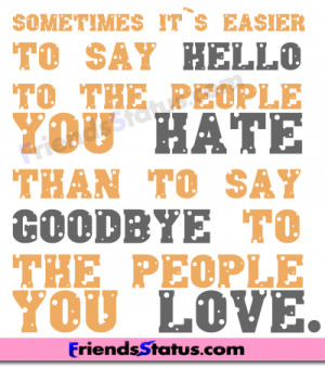love and hate facebook status image