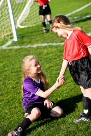 Most children need help learning to be a good sport.