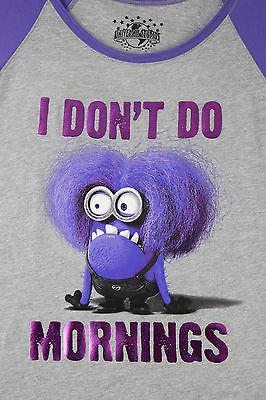 Despicable Me Purple Evil Minion Womens Pajamas Sleepshirt Minions ...